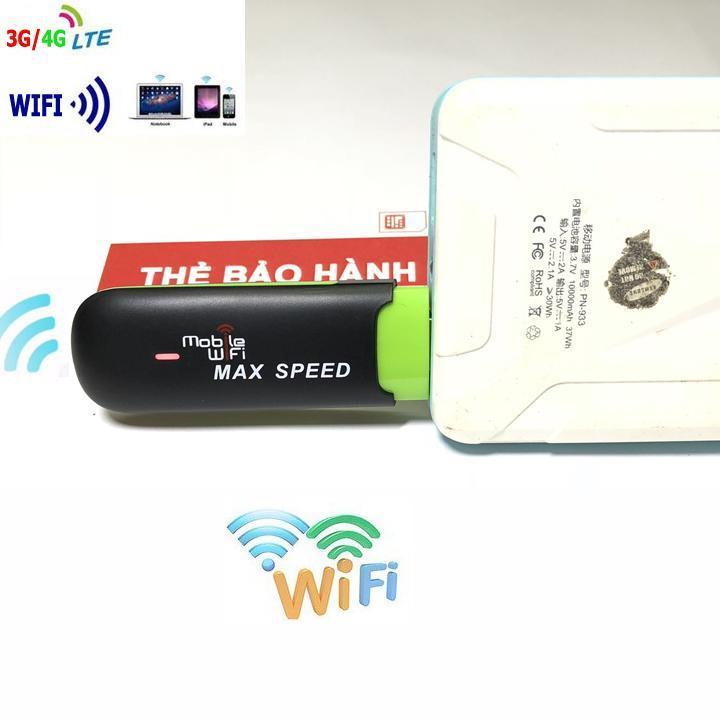 Usb phát sóng wifi từ sim 3g 4g Max Speed