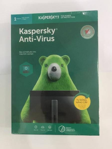 Bảng giá Phần mềm diệt virus Kaspersky Anti virus 1PC (Xanh) Phong Vũ