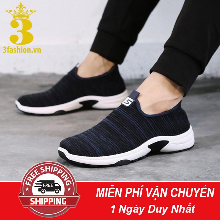 [Mẫu HOT⚡] Giày Lười Thể Thao Nam 3Fashion Shop Vải Mềm Nhẹ Cực Kỳ Êm Chân - 3161