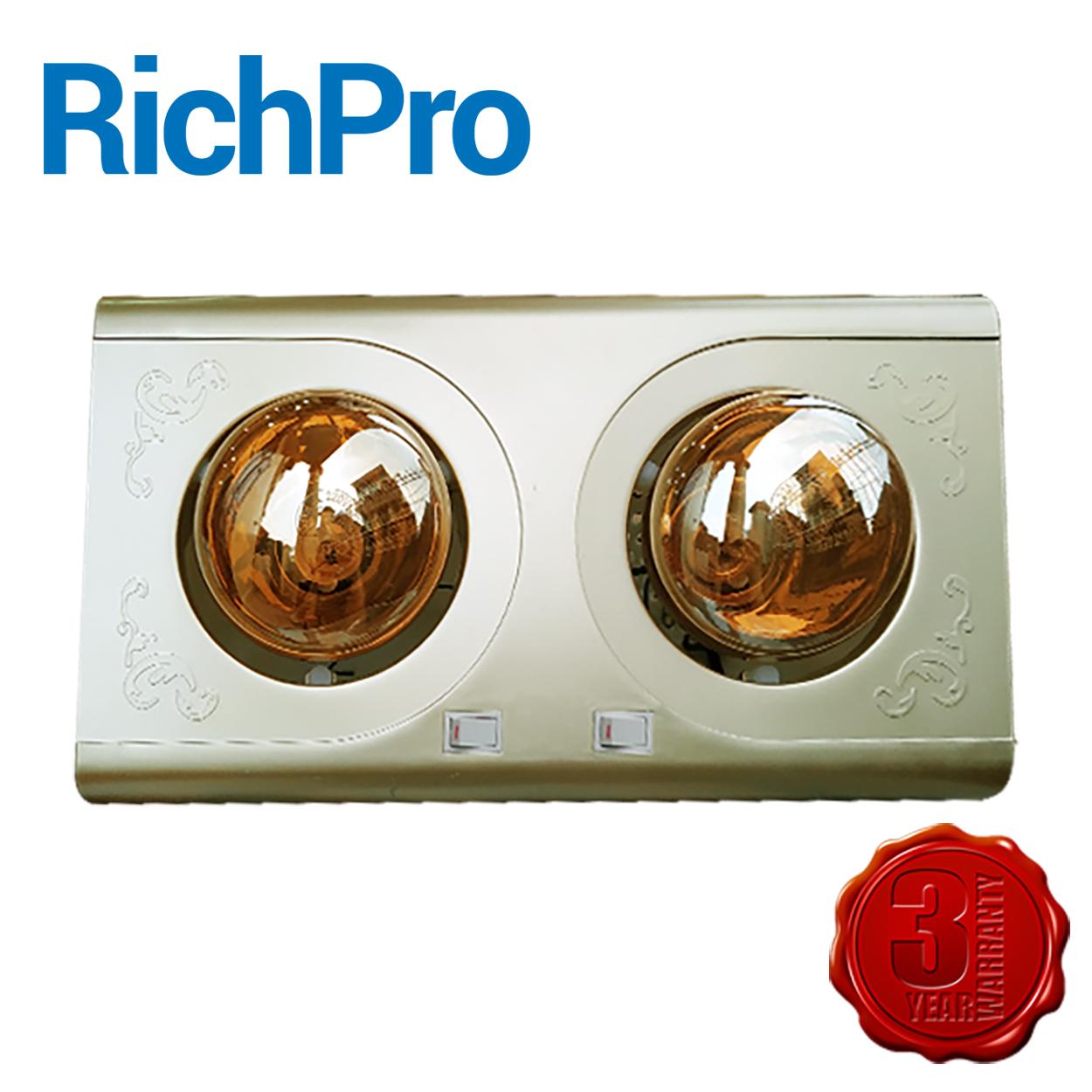 Đèn sưởi phòng tắm 2 bóng Richpro chính hãng