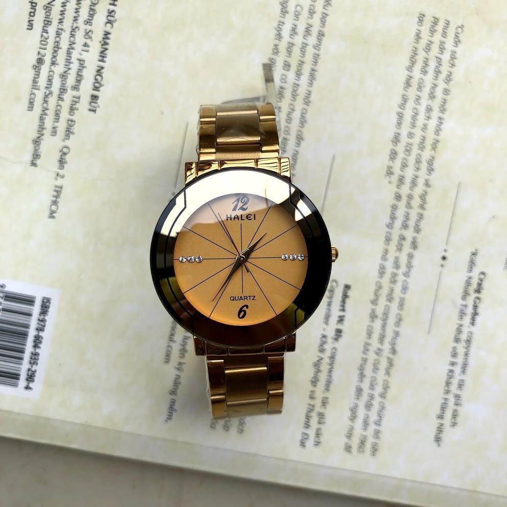 Đồng hồ nam chống nước Halei 457 vàng bán chạy