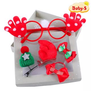 Set kẹp tóc Giáng sinh 5 chi tiết trọn bộ họa tiết Noel cho bé yêu thoải mái diện đầm xinh xắn Baby-S SNOEL008 thumbnail