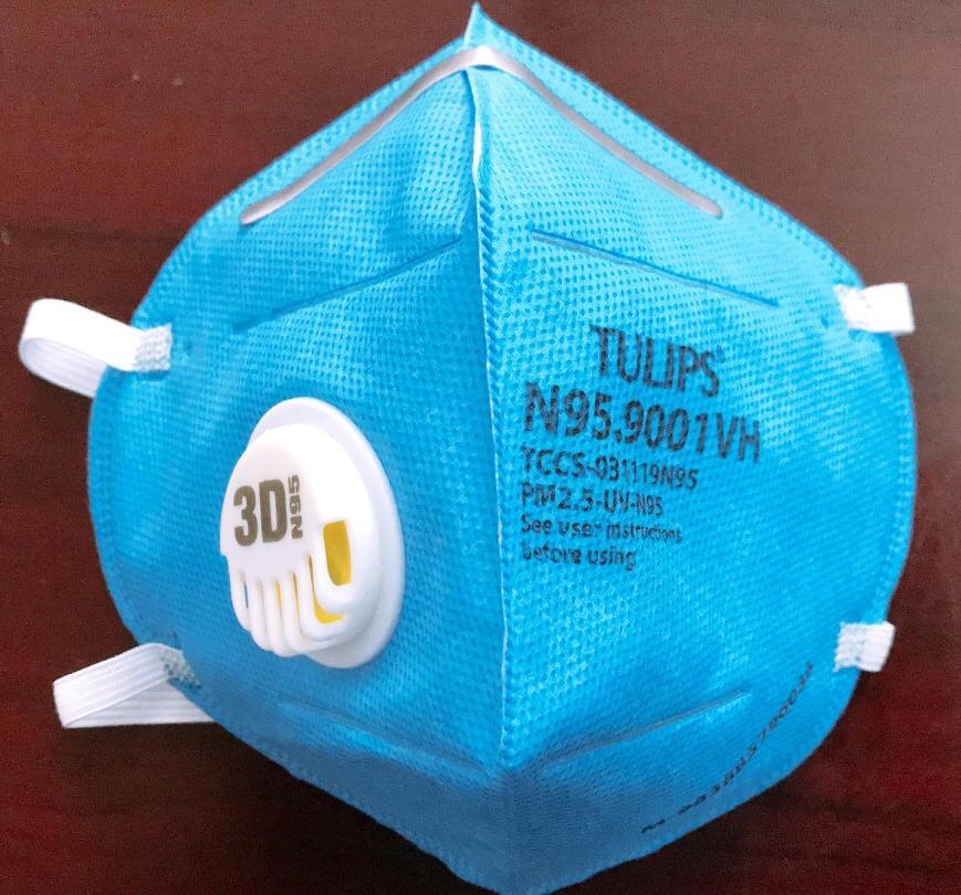 Khẩu trang N95 chất lượng (có val thở lọc khuẩn) cao cấp