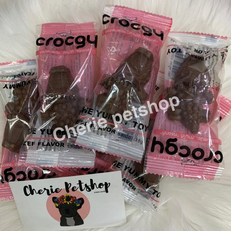 Xương gặm sạch răng hình cá sấu Crocgy (Made in thailand)