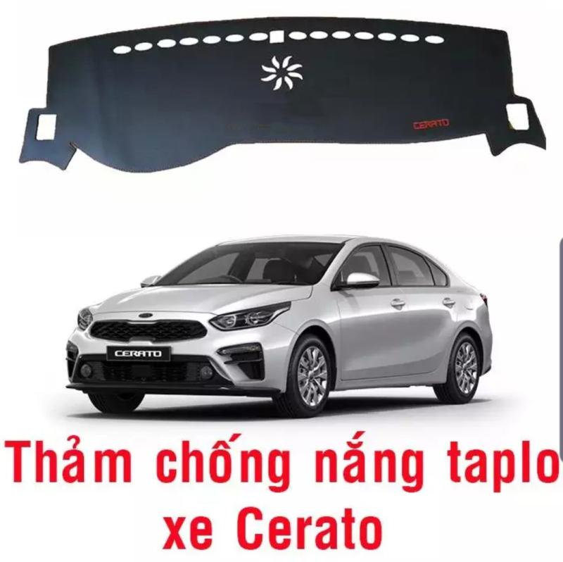 Thảm phủ taplo da xe Kia Cerato 2019 , thảm taplo da vân cacbon