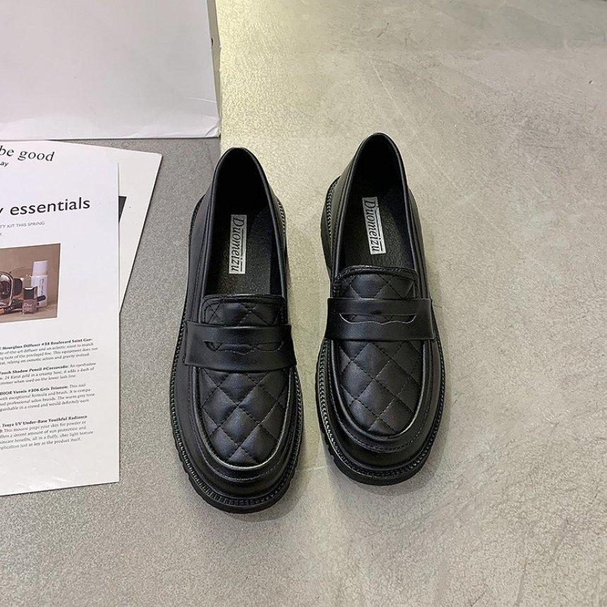 Giày Nữ 2020 Năm Mùa Thu Đông Mẫu Mới Dễ Phối Anh Phong Cách Học Đường Gió Phong Cách Retro Phong Cách Nhật Bản JK Đồng Phục Đôi Giày Lười giá rẻ