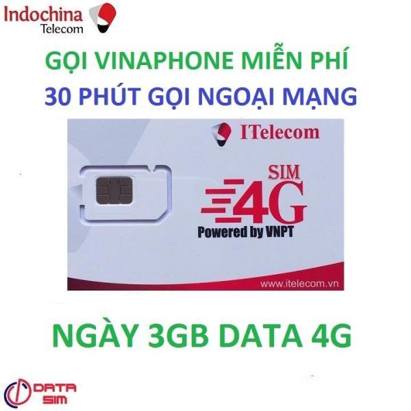 SIM ITELECOM VINAPHONE NỘI MẠNG MIỄN PHÍ 90GB 30 PHÚT GỌI NGOẠI MẠNG 0Đ