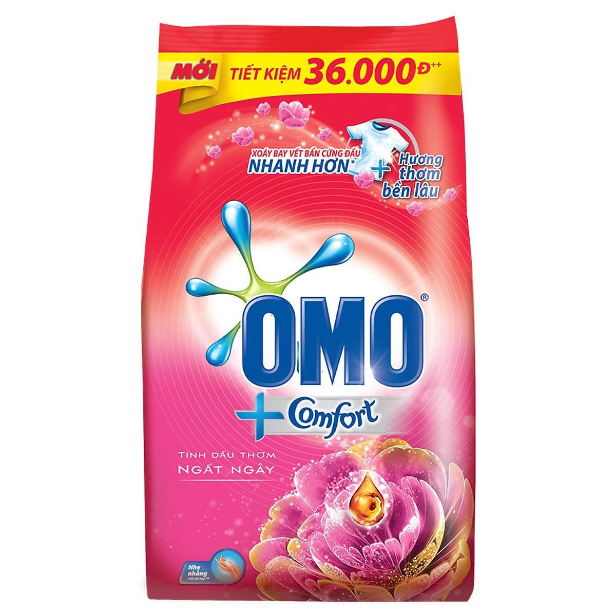 Voucher Khuyến Mại Bột Giặt Omo Comfort Tinh Dầu Thơm Ngất Ngây (4kg)