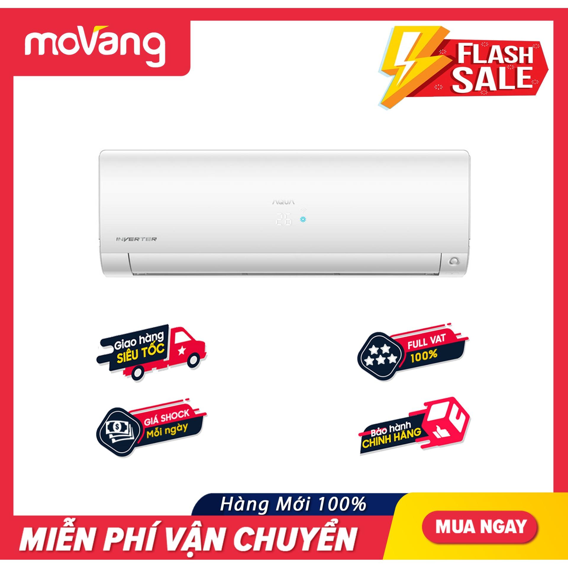 Bảng giá Máy Lạnh Aqua Inverter 1 HP AQA-KCRV10FB - Công suất Làm lạnh 9200 BTU, Bộ lọc khử mùiCông nghệ tự làm sạch thông minh AQUA FRESH