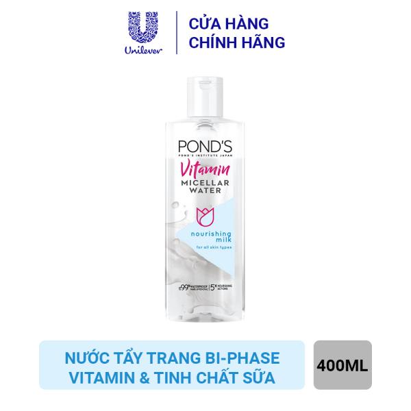 Nước tẩy trang bi-phase Vitamin và tinh chất Sữa Ponds Micellar Water 400ml giá rẻ