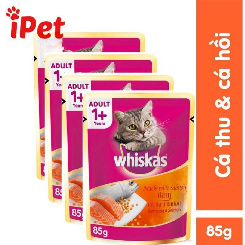 Whiskas Pate vị cá thu cá hồi cho mèo thơm ngon 85g - iPet Shop