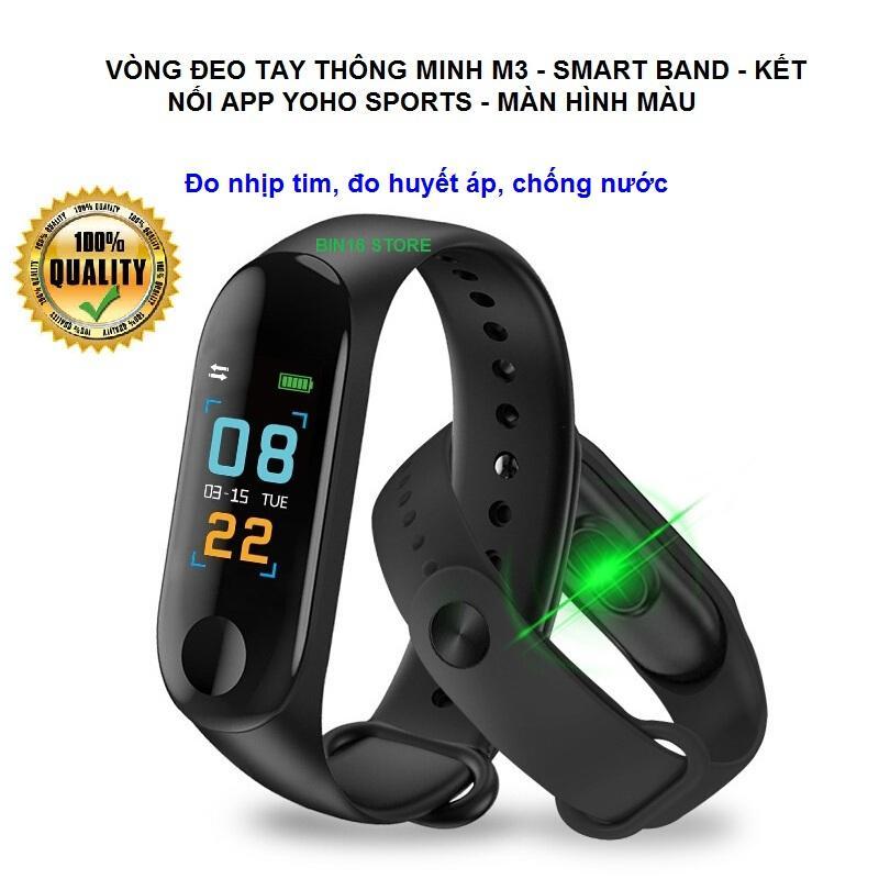 Vòng đeo tay thông minh Smart Band M3 Đo Nhịp Tim kết nối Bluetooth.Đồng hồ Thông Minh Chống Nước Vòng Tay Đồng Hồ Dây Đeo Tay Tập Thể Thao, Vòng Theo Dõi Sức khỏe, Vòng Theo dõi vận động