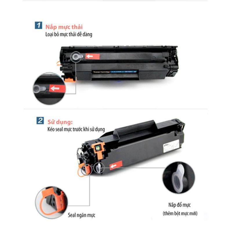 Hộp Mực 85A  Hộp Mực 35A có lỗ đổ mực và mực thải dùng cho máy in hp P1102P1102wM1212NFM1132 và Canon LBP-3018/3010