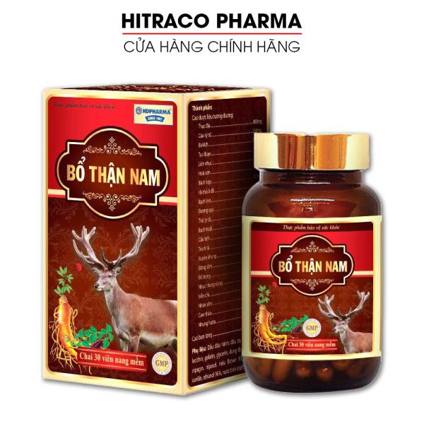 Viên uống Bổ Thận Nam tăng cường sinh lý nam, bổ thận, tráng dương, giảm xuất tinh sớm - Hộp 30 viên- HITRACO