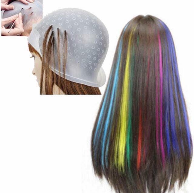 Mũ gảy light tặng que gảy light thỏa sức sáng tạo kiểu nhuộm tóc - phụ kiện không thể thiếu của barber tại các salon tóc