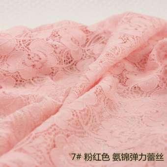 ผ้าลูกไม้เสื้อผ้าเสื้อเนื้อผ้าผ้าลายฉลุยืดหยุ่นฝ้าย100% RESTONIC หลากสีสามารถเลือกสินค้าได้ครึ่ง