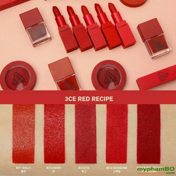 Son 3CE Red Recipe