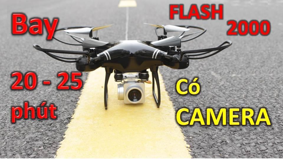 Deal Giảm Giá Flycam FLASH 2000 (bay 20-25 Phút) Gimbal Chống Rung 8 Trục