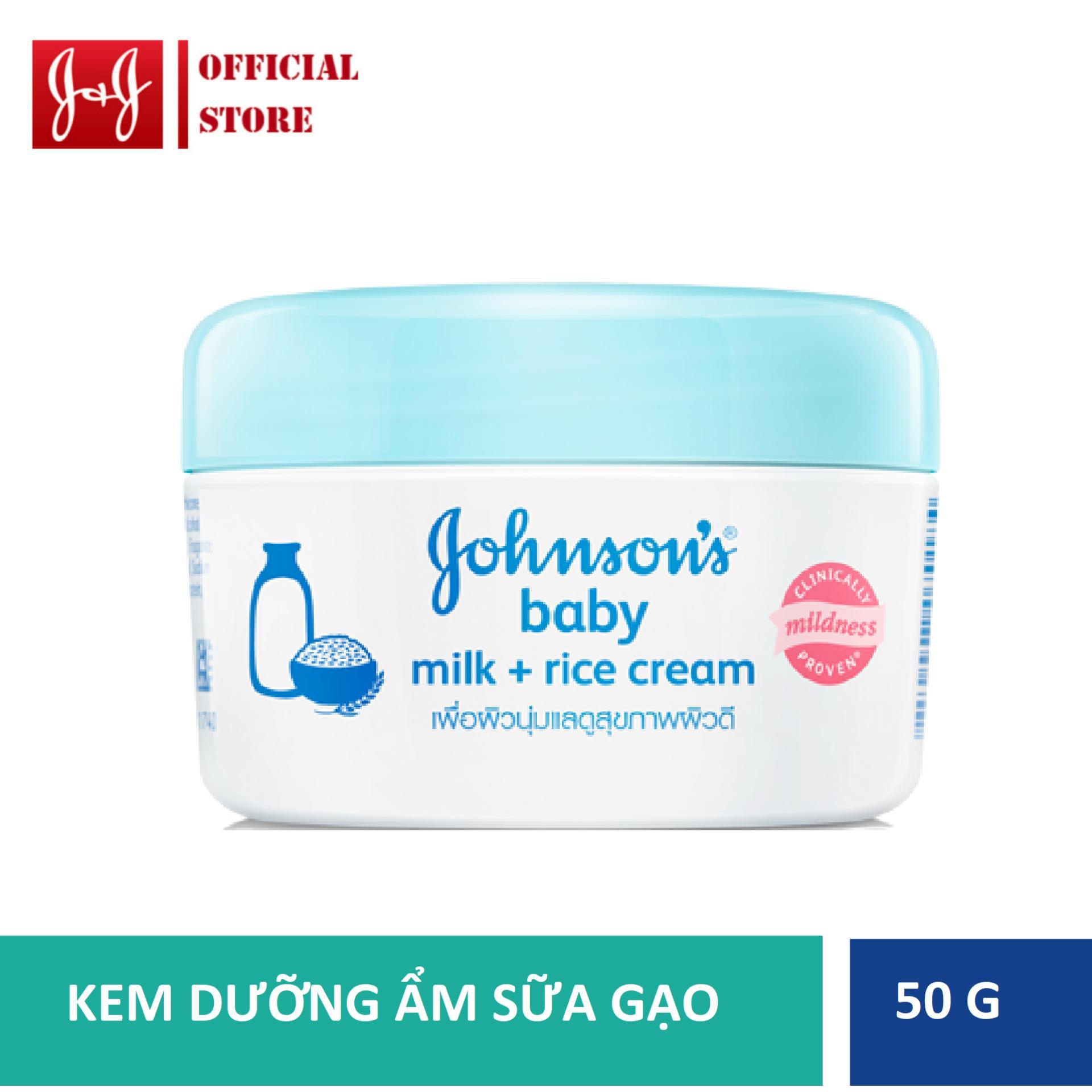Kem Dưỡng Da Chứa Sữa & Gạo Johnson's Baby 50g Có Giá Siêu Tốt