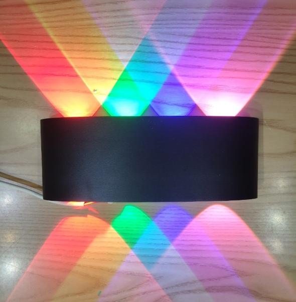 Đèn trang trí hắt tường cột 2 đầu 3 màu , 4 màu ( 6 mắt led , 8 mắt led ) ,kháng bụi chống nước tiêu chuẩn IP67 ,