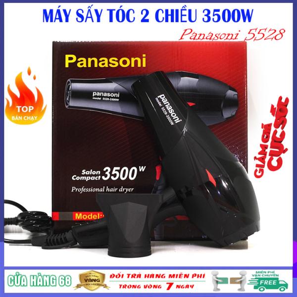 Máy sấy tóc chuyên nghiệp 2 chiều Panasoni 5528 công suất lớn 3500W có ánh sáng xanh kháng khuẩn không làm hư tổn tóc nhập khẩu