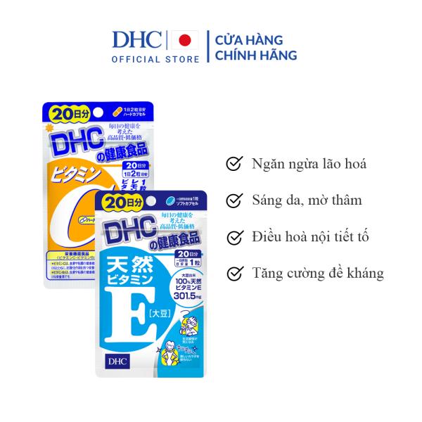 Combo Viên Uống DHC Trắng Hồng Và Mịn Màng 20 Ngày (VitaminE & VitaminC)