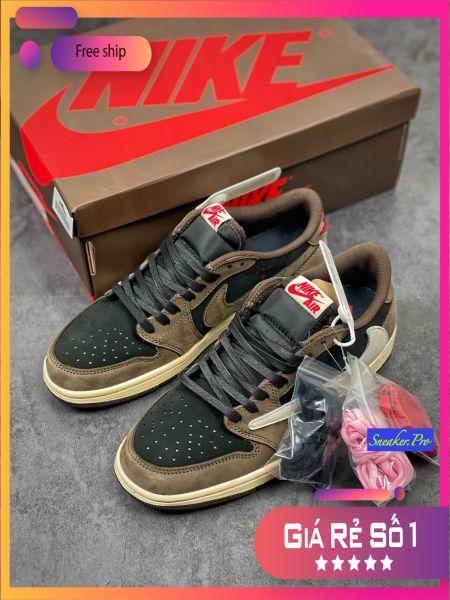 (FULL BOX + SALE SỐC) Giày thể thao Air Jordan 1 Retro Low OG SP Travis Scott siêu đẹp dành cho nam và nữ