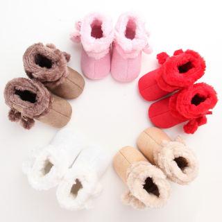Trẻ Sơ Sinh Toddler Bé Gái Giày Tuyết Mùa Đông Toddler Infant Dễ Thương Stiching Ấm Kids Cô Gái Sang Trọng Duy Nhất Crib Shoes Boots Giày Da Đanh