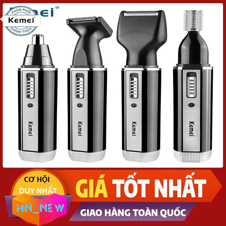 Bảng giá Tông đơ cắt tóc cho người lớn và trẻ nhỏ,Tông đơ cắt tóc 4 in 1 Kemei 6630 Điện máy Pico