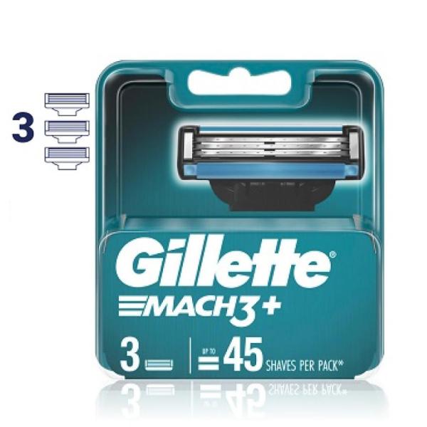 Vỉ 03 lưỡi cạo râu Gillette Mach 3+ Mới giá rẻ