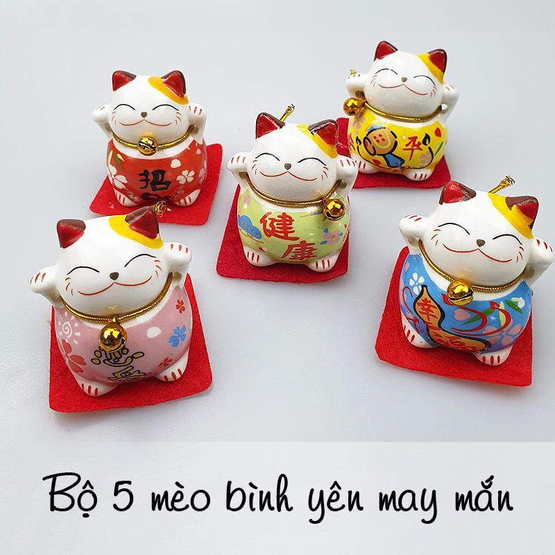 Mua Set 5 mèo may mắn dùng để trang trí