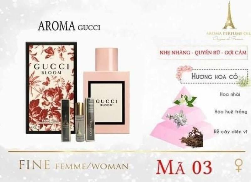 Tinh dầu nước hoa Pháp Aroma, dạng lăn mini 12ml cho các bạn giới trẻ, Mùi Hương Cỏ Nhài - Vietnamxuatkhau1989 - nhập khẩu