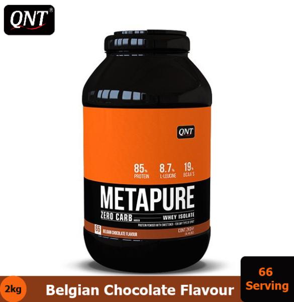 Thực Phẩm Bổ Sung QNT Metapure Zero Carb Whey Protein Hương Socola  2kg - HSD:  Cuối tháng 7, 2020