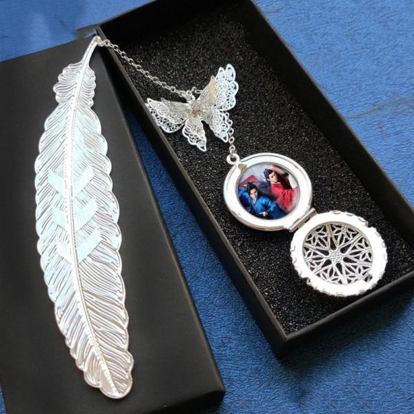 ( không kèm hộp ) Bookmark lông vũ gắn điệp SƠN HÀ LỆNH THIÊN NHAI KHÁCH Cung Tuấn Trương Triết Hạn thần tượng idol