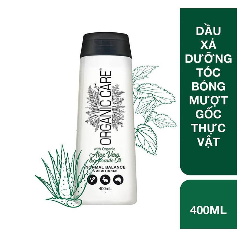 Dầu xả dưỡng tóc bóng mượt gốc thực vật Organic Care Aleovera and Avocado Oil 400ml