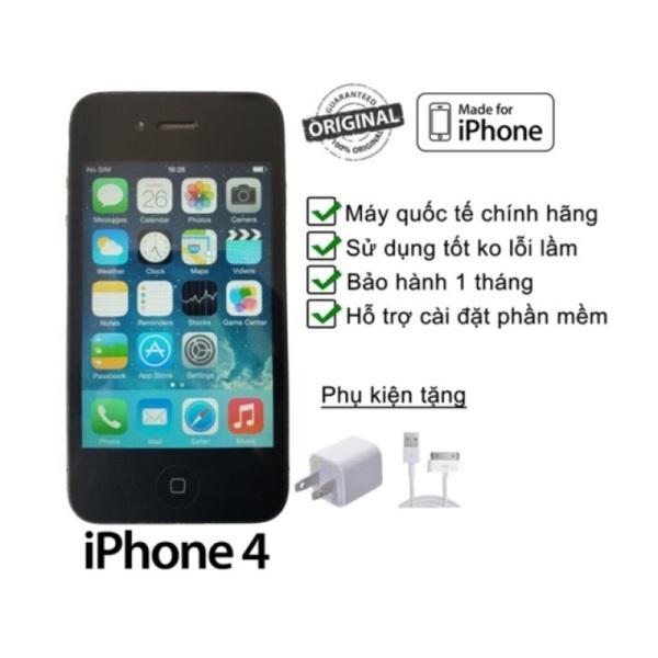Điện thoại iphone 4 chính hãng - tặng kèm cáp sạc, nghe gọi, lướt mạng , chơi game nhẹ nhàng - hỗ trợ bảo hành đổi trả toàn quốc