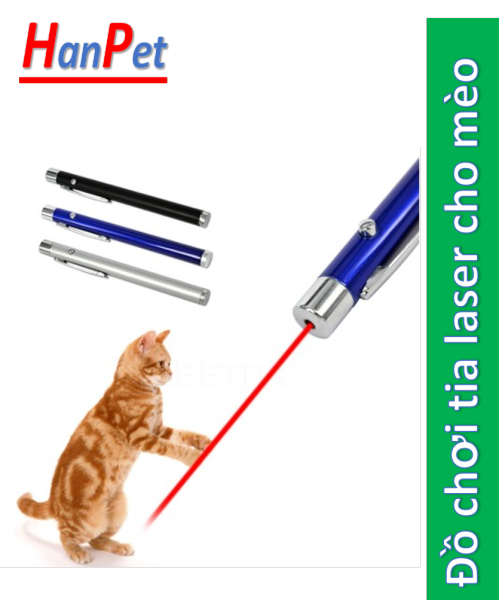 HCM- Đồ chơi tia laser cho mèo (kèm pin) dạng bút laze phát tia hồng ngoại đèn led cho chó và mèo đùa nghịch