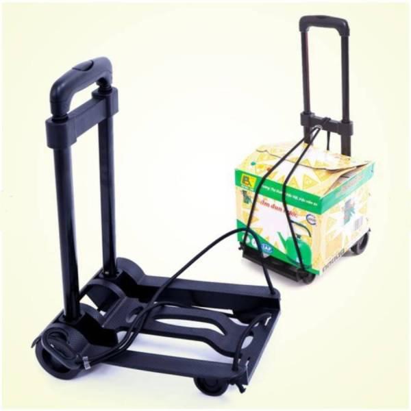 Xe 2 bánh gấp gọn nhẹ xe đẩy hành lý lưu trữ di động xe đẩy hàng xe đẩy xe đẩy hàng- XKT02- 2B Nhựa