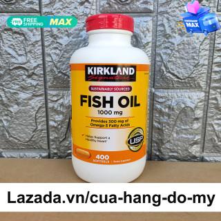 Viên Uống Dầu Cá Kirkland Fish Oil 1000mg 400 Viên - Mẫu bật (nắp đỏ) - Dầu cá 400 viên giúp sáng mắt, đẹp da, ngăn ngừa ung thư thumbnail