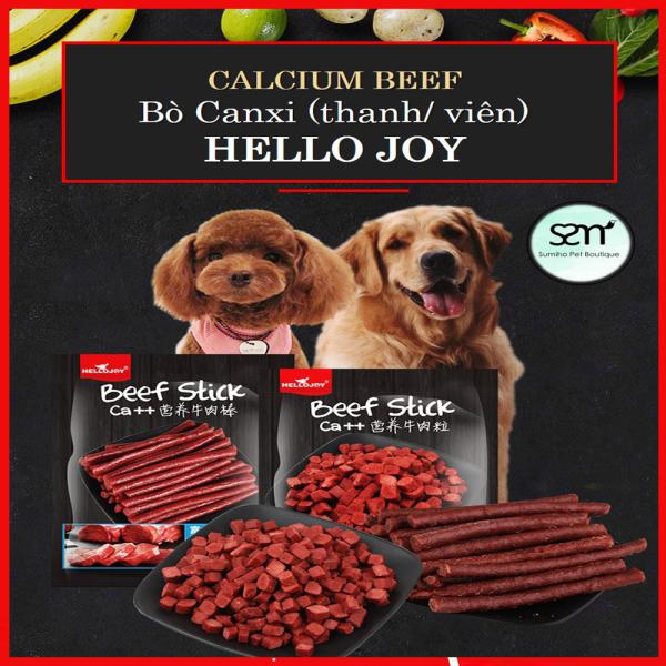 Thanh thịt bò bổ sung Canxi cho chó Hello Joy (thanh/viên) (500gr/túi) Bánh thưởng cho chó mèo thú cưng