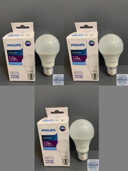 Bộ 3 Bóng đèn LED Bulb 12w E27 Philips HV 1PF/20 GMGC  (Trắng/Vàng)