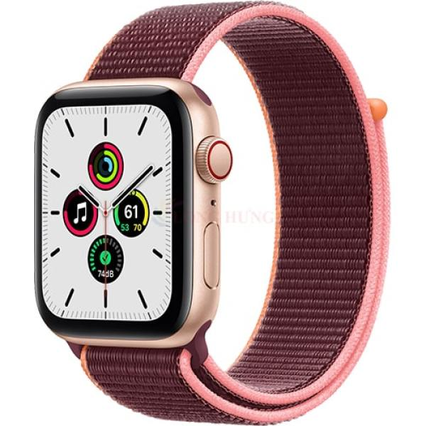 [VOUCHER 8% TỐI ĐA 800K] Apple Watch SE GPS Cellular 44mm Gold Aluminum Plum Sport Loop MYEY2VN/A - Hàng chính hãng - Đường kính mặt 44mm, Chống nước chuẩn quốc tế, Gia tốc kế, con quay hồi chuyển, la bàn