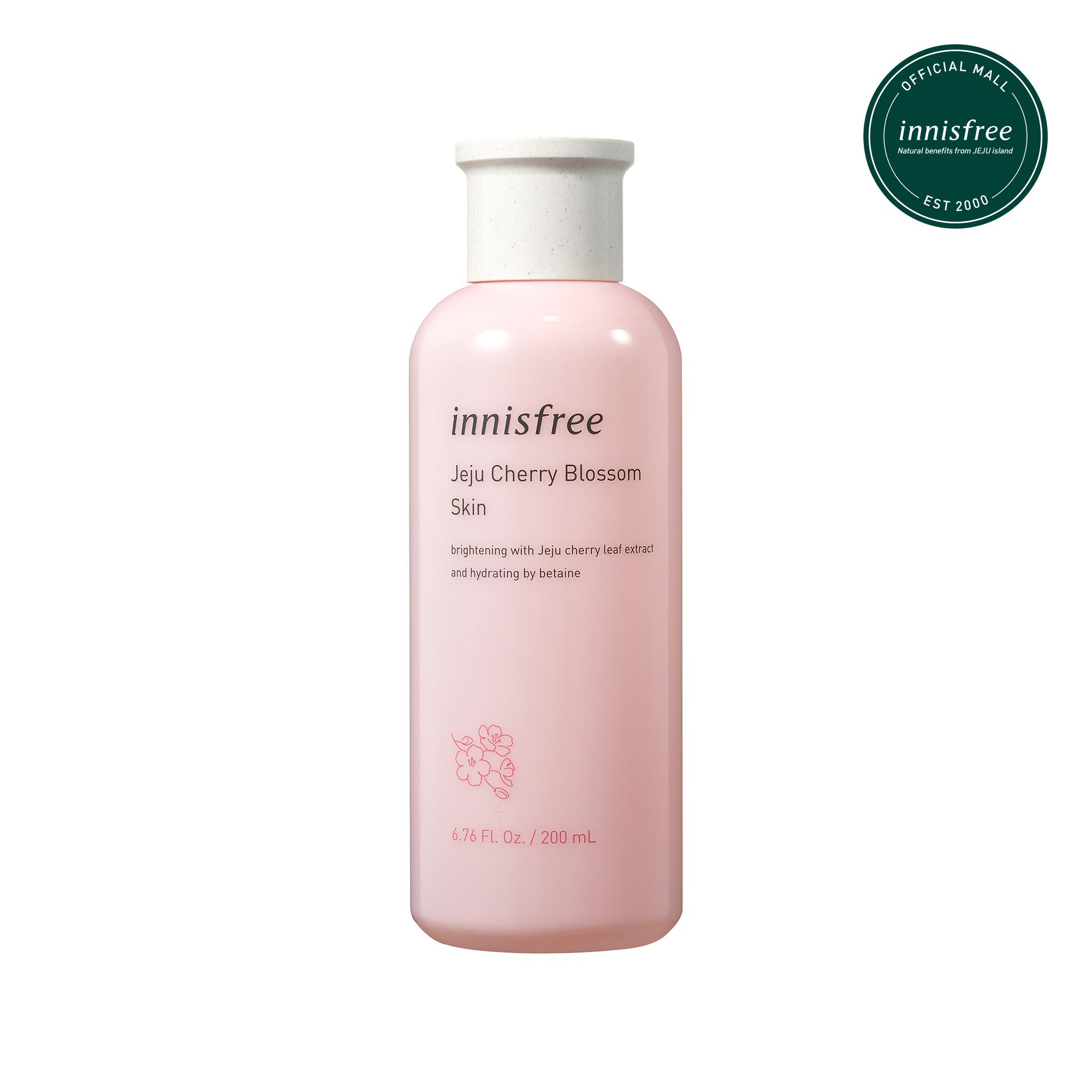 Nước cân bằng dưỡng ẩm sáng da từ hoa anh đào đảo Jeju innisfree Cherry Blossom Skin 200ml nhập khẩu