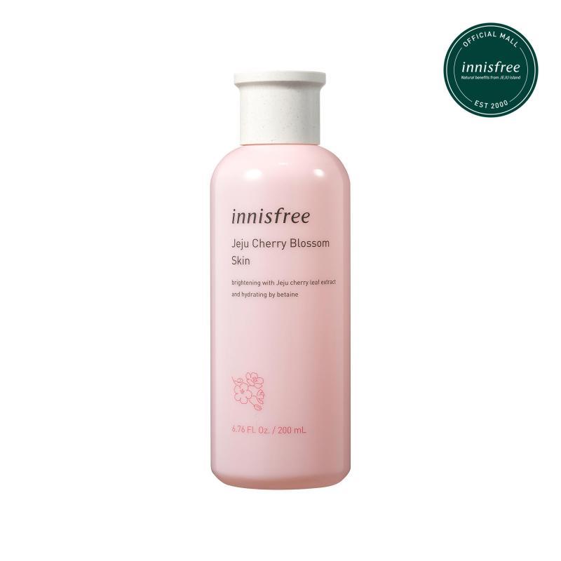 Nước cân bằng dưỡng ẩm sáng da từ hoa anh đào đảo Jeju innisfree Cherry Blossom Skin 200ml