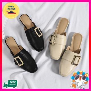 Giày sục nữ Hàn quốc mũi vuông chất liệu da cao cấp Chống nước, đế cao 3 cm mang êm chân , sang trọng, đẹp mắt Hot 2021 thumbnail
