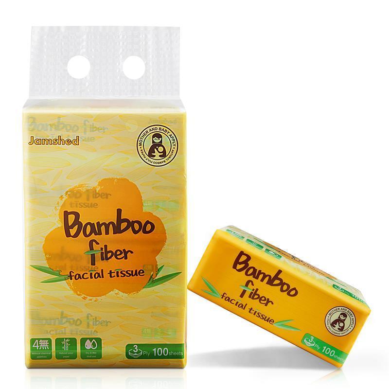 Khăn giấy tre Bamboo Fiber Hàn Quốc - Lốc 4 gói