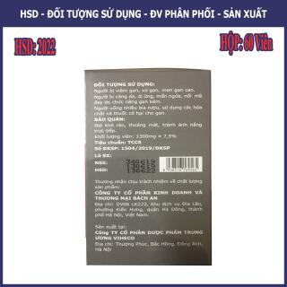 Viên Bổ Gan Sologan New (Hộp 60 Viên) - Sản phẩm của người Việt - cho người Việt. Hỗ trợ giải độc gan - Tăng cường chức năng gan 4