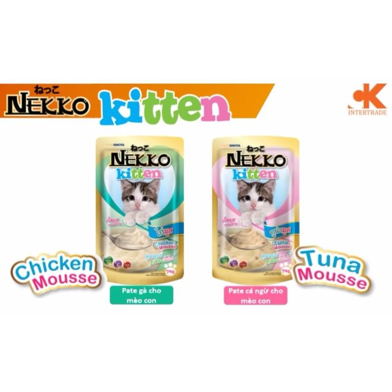 Pate Nekko Nhập Khẩu Thái Lan Cho Mèo 70gr - 1 Gói