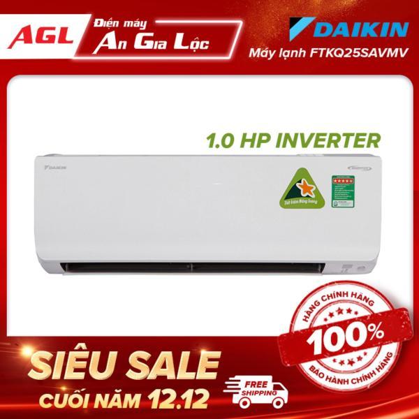 Máy Lạnh DAIKIN Inverter 1 HP - 9.000 BTU FTKQ25SAVMV, Chức năng hút ẩm, Hẹn giờ bật tắt máy, Bảo hành 1 năm