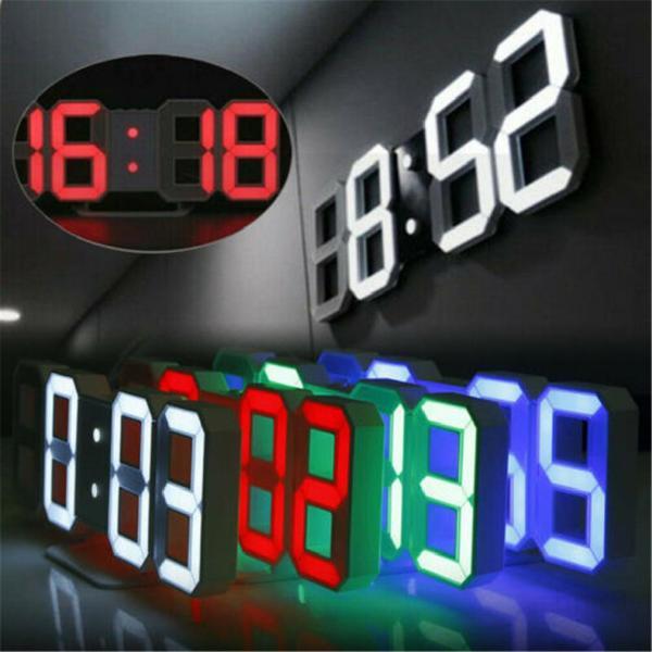 Đồng hồ báo thức 3D thông minh kỹ thuật số Đồng hồ treo tường kỹ thuật số LED quà tặng điện tử đồng hồ báo thức đồng hồ nhiệt độ lớnrdOG7lNK bán chạy